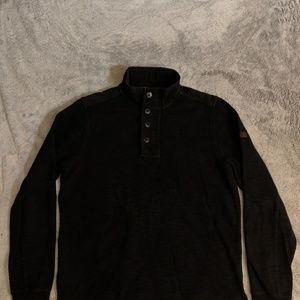 Ben Sherman 1/4 Zip Button Up Sweater